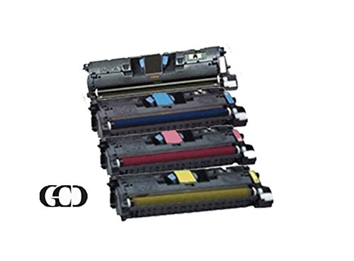 4 Pack of Replacement Black, Cyan, Magenta and Yellow Toners for HP Color Laserjet 2550 / 2550L / 2550LN / 2550N / 2800/2820 / 2830/2840, LBP-2410