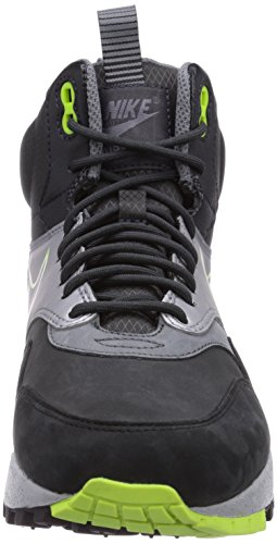 Nike Air Max 1 Sneakerboot - Zapatillas altas Mujer Mehrfarbig (Black/Volt-Anthrct-Mtllc Slvr)