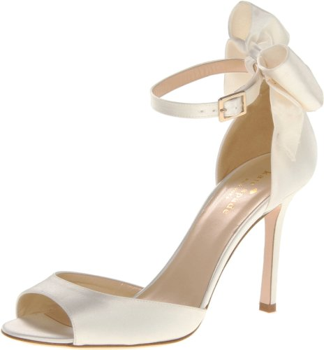 Kate Spade New York Women's Izzie Ivory Satin Pump 11 M by Kate Spade New York