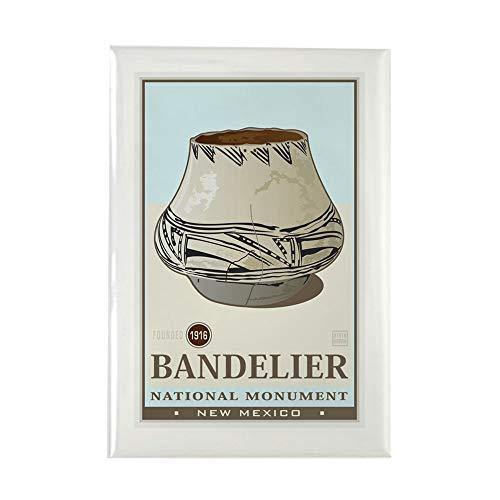CafePress Bandelier 3 Rectangle Magnet, 2