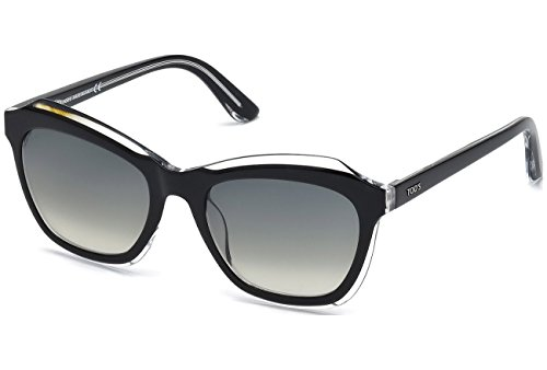 Price comparison product image Sunglasses Tod's TO 162 TO0162 03B black/crystal / gradient smoke