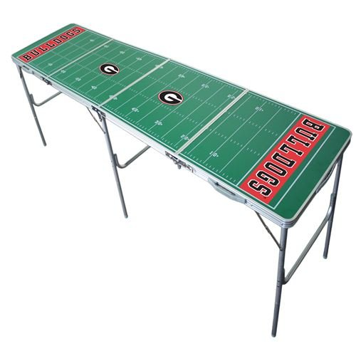 Georgia Bulldogs Tailgate Table, NCAA Football Tailgating, 2x8, 8ft, Lightweight