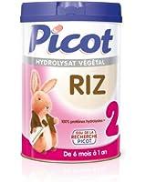 Picot-Lait Riz 2ème Age de 6 Mois à 12 Mois Picot, 900g