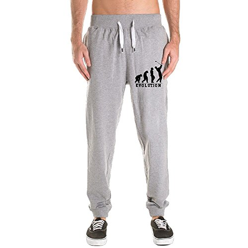 Xianjingshui Golf Evolution Men's Jogger Sweatpants Drawstring Elastic Waist Outdoor Running Trousers Pants With Pockets (Evolution Motorcycle Pants)