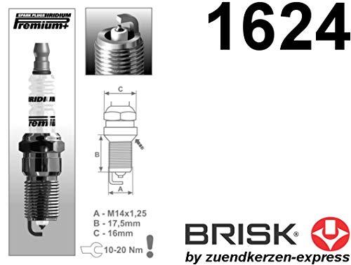 BRISK Iridium Premium+ Plus P6 1624 Bujías de Encendido, 4 piezas: Amazon.es: Coche y moto