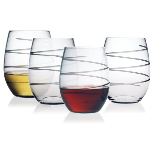 Susquehanna Glass Spiral Stemless Glasses product image