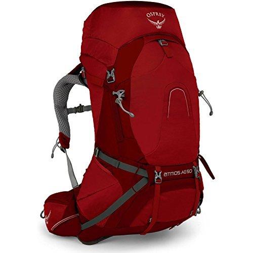 Osprey Atmos AG 50 Hiking Backpack Large Rigby Red [並行輸入品] B07DVKG2MT