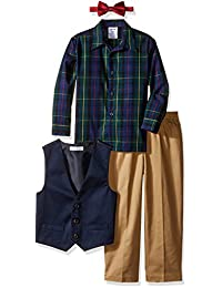 IZOD Kids Boys' Solid Twill Vest Set