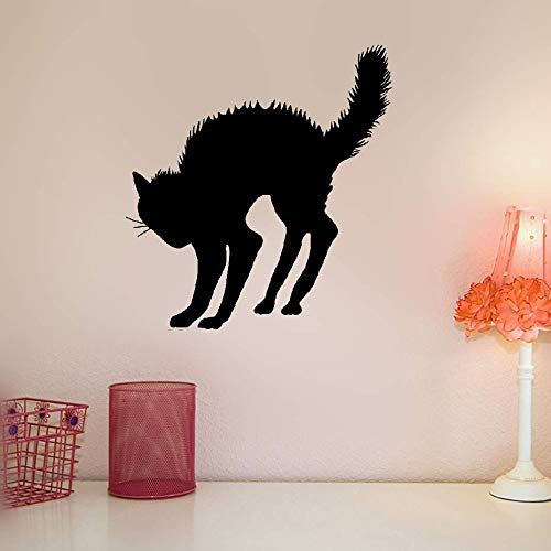 Wall Sticker Family DIY Decor Art Stickers Home Decor Wall Art Scary Halloween Cat]()