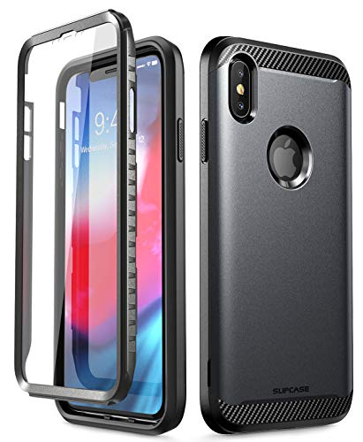 iPhone Xs Max Case, SUPCASE [UB Neo Series] Full-Body Protective with Built-in Screen Protector Dual Layer Armor Cover for iPhone Xs Max Case 6.5 Inch 2018 (Black)