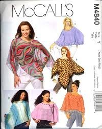 McCall's Sewing Pattern 4840 Misses Size 4-14 Summer Lightweight Poncho Capelet ()