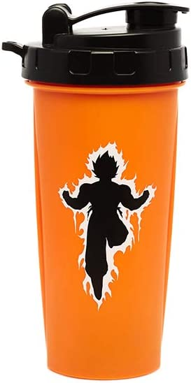 Dragon Ball Z Goku Shaker Bottle, 24oz, Featuring Super Saiyan Goku(Officially Licensed), by Just Funky