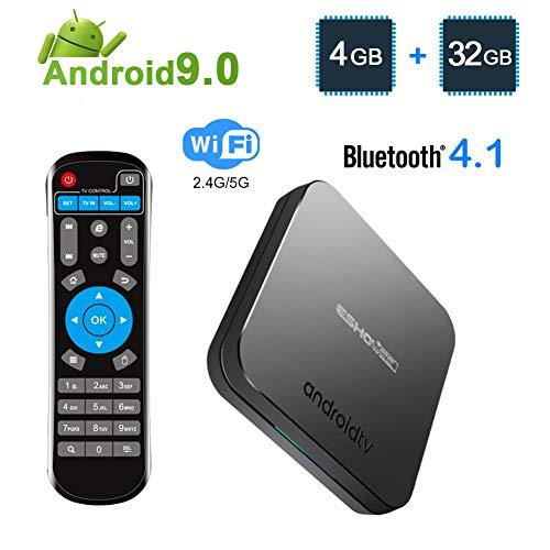 ESHOWEE KM9 Android 9.0 TV Box Amlogic S905X2 Quad-core CPU DDR4 4GB RAM 32GB ROM BT 4.1 2.4/5G Dual-Band WiFi 4K UHD…