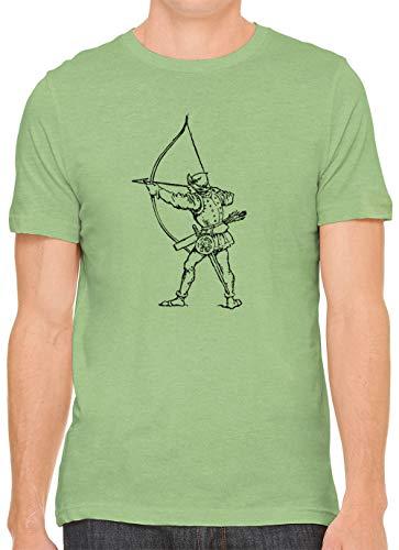 Austin Ink Apparel Medieval Archer Cotton Crewneck Unisex Mens T-Shirt Leaf S