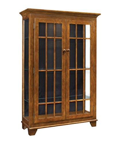 Philip Reinisch Color Time Monterey Two-Door Display Cabinet, Chestnut
