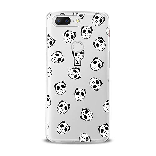 Lex Altern TPU Case for OnePlus 7 Pro 6T 6 2019 5T 5 2017 One+ 3 1+ New Clear Creative Cute Jason Mask Silicone Funny Cover Printed Protective Lightweight Flexible Soft Stylish Smooth Theme Gift -