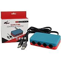 HOPEMOB Adaptador Nintendo Switch WiiU PC para 4 Controles Gamecube con Turbo y Botón Home