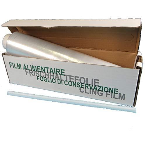 4x Frischhaltefolie Klarsichtfolie PE Folie 45cm 300m Großrolle in praktischer Spender Box