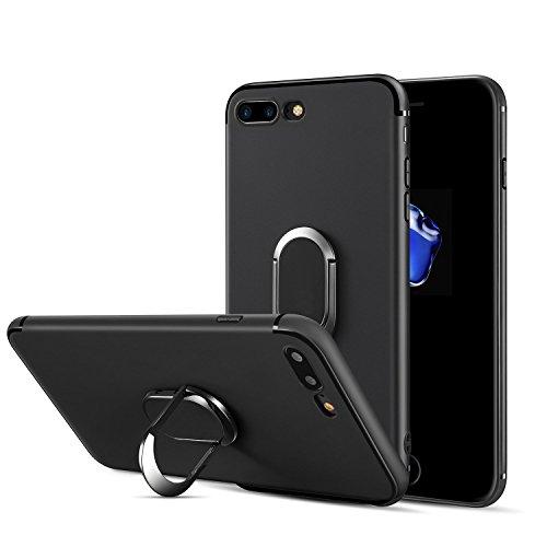 PUBAMALL Funda iPhone 7 Plus /8 Plus, 360 Grados Ajustable Anillo Grip Stand Silicona Suave a Prueba de Golpes con Cubierta...