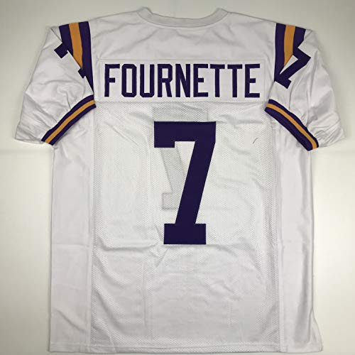 - Unsigned Leonard Fournette LSU White Custom Stitched College Football Jersey Size Men's XL New No Brands/Logos