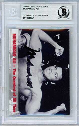 Autographed Edge Collectors Card (Muhammad Ali Autographed 1994 Collectors Edge Card Beckett BAS #10841671)