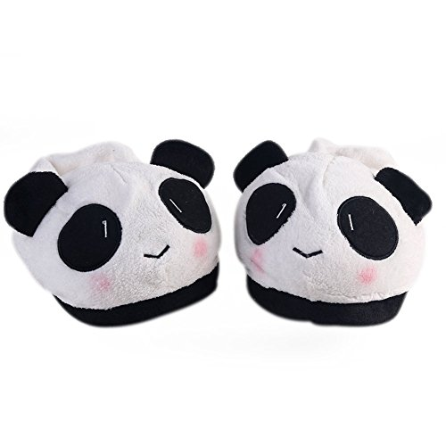 iknowy Super suave Super-Meng Cute bolsa de algodón zapatillas de peluche con otoño y invierno paquete de toallas de cálido de jersey de oso panda casa con modelos