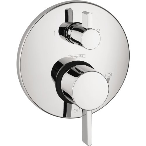 Hansgrohe 4447000 S Trim Pressure Balance with Diverter, Chrome ()