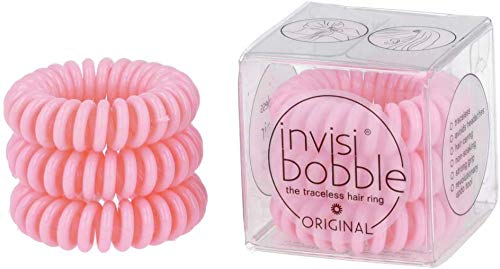 invisibobble Original Traceless Spiral Hair Ties – Pack of 3 Blush Hour – Strong Elastic Grip Coil Hair Accessories for…