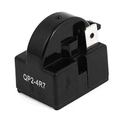 Click Down Plastic Housing 4.7 Ohm 1 Pin Refrigerator PTC Starter Relay Black