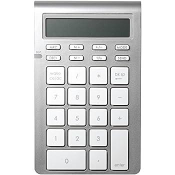 Satechi Aluminum Bluetooth Wireless 26-Key Smart Keypad and Calculator Keyboard Extension - Compatible with 2017 iMac, MacBook Pro, MacBook, iPad, iPhone, ...