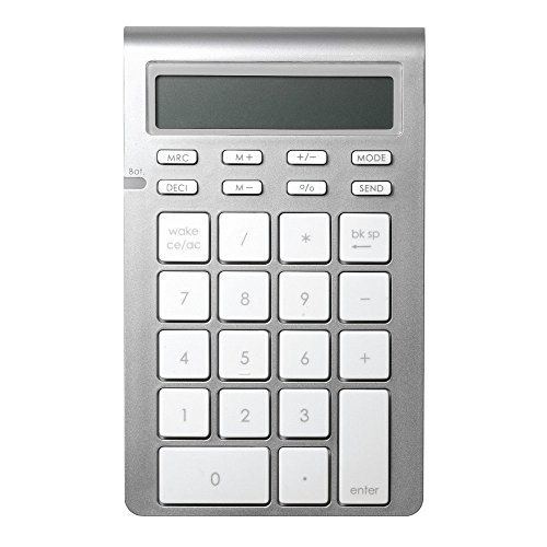 Satechi Aluminum Bluetooth Wireless 26-Key Smart Keypad and Calculator Keyboard Extension - Compatible with 2017 iMac, MacBook Pro, MacBook, iPad, iPhone, Dell, Lenovo and ()