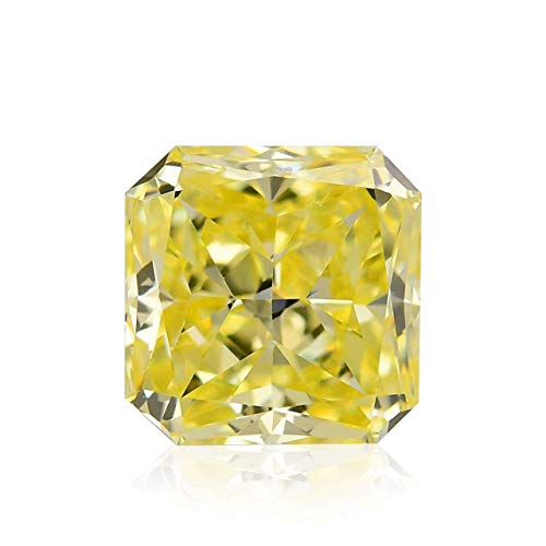 Leibish & Co 1.22Cts Fancy Intense Yellow Loose Diamond Natural Color Radiant Cut GIA Cert