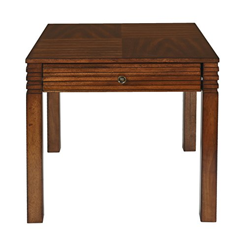 New Classic Parquet Burnished Walnut End Table