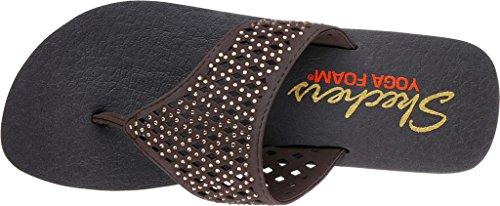 Chocolate Women's Cali Flip Flop Bindu Vinyasa Skechers 1ATpwqBYB