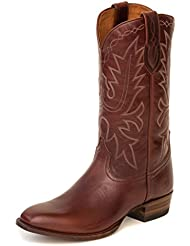 Ranch Road Boots Mens Carson County Brown Cowboy Boot with Walking Heel