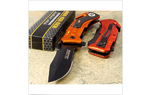 Tac Force Orange EMT MAGNUM KNIFE Spring Assisted Opening Rescue survival EDC