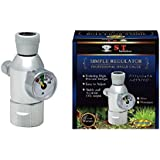 S.T. International Aquarium 1-Gauge CO2 Simple Regulator, Silver
