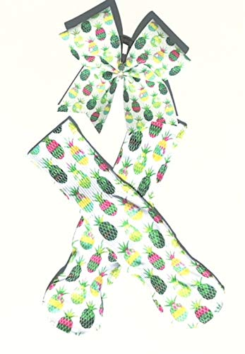 Tropical Pineapples - Cheer Bow and Matching Socks by The Cheer Shack