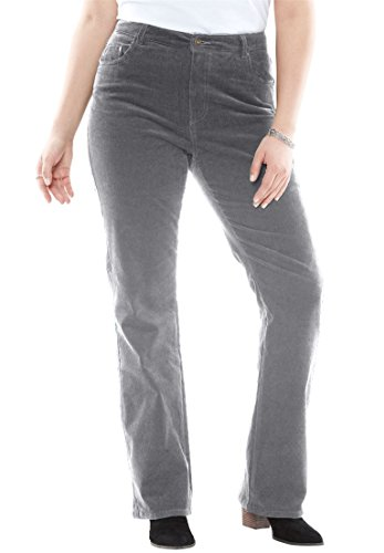 Women's Plus Size Bootcut Stretch Corduroy Jean Slate,16 W