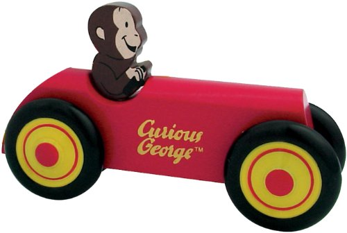 Curious George Wooden Car by Schylling - Childrens Wooden Toy -