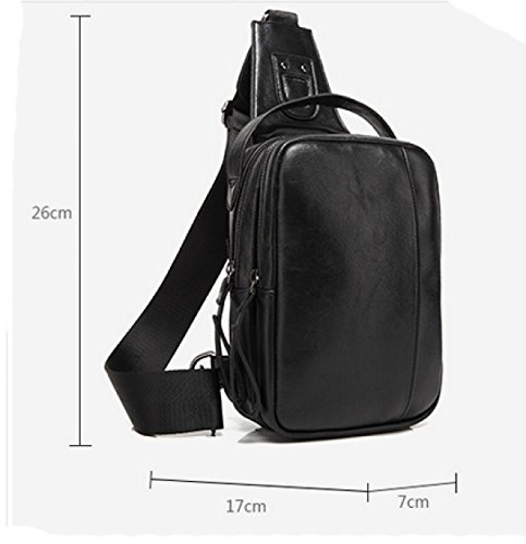 Business Outdoor functional Shoulder Chest Diagonal Package Bag Leisure Black Sports Laidaye Multi Men's xpAZqf