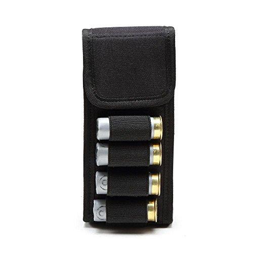 Umiwe 16-Hole Bullet Bags, 600D Nylon 16 Rounds 12G Buttstock Shotgun Shell Holder Ammo Bag for Bullets Hunting