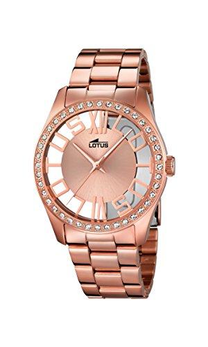 Lotus-Reloj-de-cuarzo-para-mujer-con-oro-rosa-esfera-analgica-y-acero-inoxidable-baado-en-oro-rosa-pulsera-181281