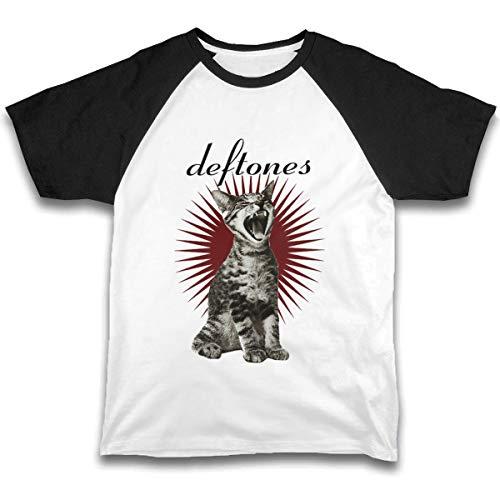 (Boys Raglan Tee Girls Short Sleeve Jersey T Shirts Unisex Baby Kid Tops, Deftones Band Adrenaline Cat Black)