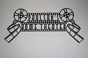 Custom Personalized Home Theater Sign Dual Movie Reels Metal Wall Art