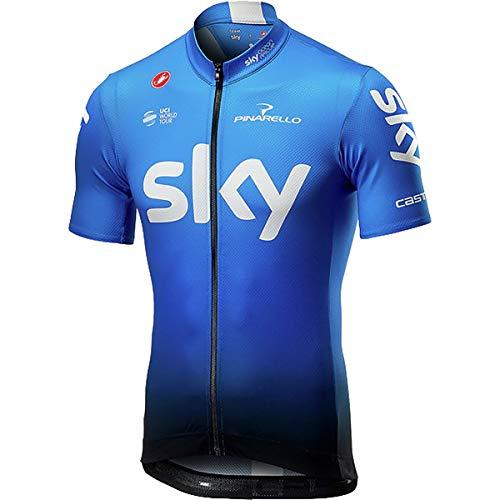 (Castelli Team Sky Fan 19 Jersey - Men's Sky Blue, M)