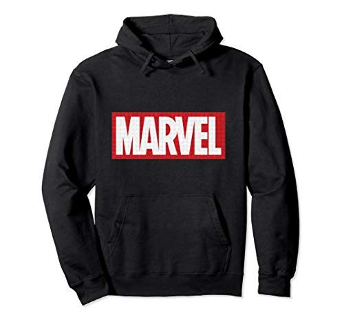 Marvel Classic Logo with Icons Hooded Sweatshirt (Icon Sweatshirt Mens)