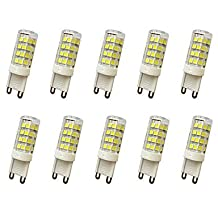 LED LIGHT BULBS,E14 / G9 / G4 5W T 51LED SMD 2835 400-450LM Warm White / Cool White Decorative AC110 / AC220 V 10 pcs ( Connector : G9 , Light Source Color : Cool White-110V )