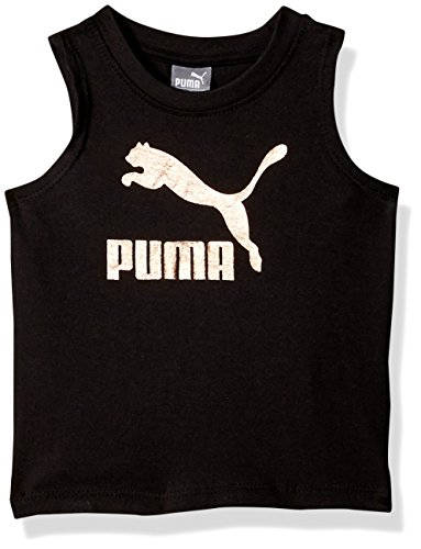 PUMA Toddler Girls' Archive Logo Tulip Bank Tank, Black, 2T
