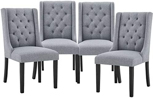 Modern Accent Chairs Tufted Fabric Dining Room Chairs Parsons Chair
